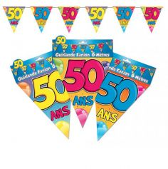 "Guirlande Fanions ""50"""