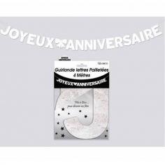 joyeux-anniversaire-blanc-paillettes | jourdefete.com