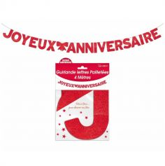guirlande-rouge-joyeux-anniversaire | jourdefete.com
