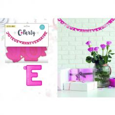 "Guirlande lettres ""Joyeux anniversaire"" - Fuchsia"