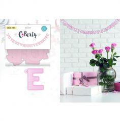 """Guirlande lettres """"Joyeux anniversaire"""" - Rose"""