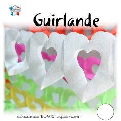 Guirlande Cœur Blanc - 4m