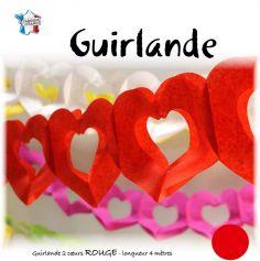 Guirlande Cœur Rouge