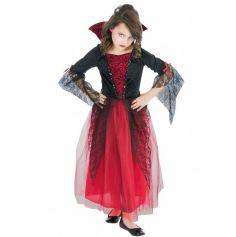 Déguisement Fille - Vampiresse Rouge - Taille au Choix
