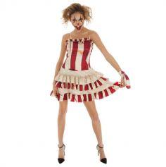 Déguisement Femme - Clown Effrayant - Taille au Choix