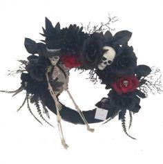 couronne_halloween_gothique_squelette | jourdefete.com