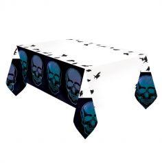 Nappe en papier Squelette Réfléchissant - Boneshine - 180 cm