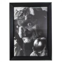 Cadre 3D Holographique de Sorcière en noir et blanc - 45 x 35 cm
