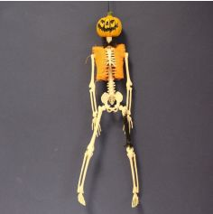 Citrouille Squelette à Suspendre - 40 cm