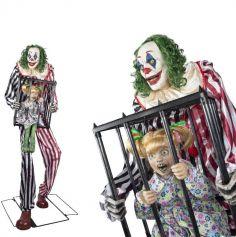 clown-fillette-cage-halloween | jourdefete.com