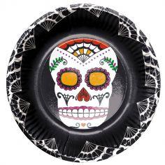 assiettes-carton-dia-muerte | jourdefete.com
