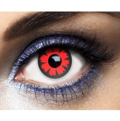 "Lentilles "" Cyber Red "" - Rouge - (Sans Correction) - 1an"