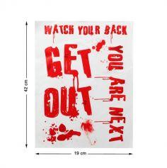 Décorations de Fenêtre - Get Out - 42 x 19 cm