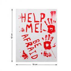 Décorations de Fenêtre - Help Me - 42 x 19 cm