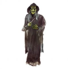 décoration halloween sorcière animée et sonore 180 cm | jourdefete.com