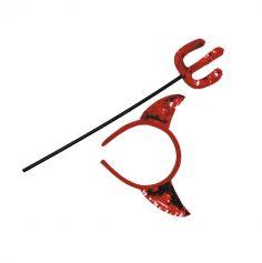 set diable sequins rouge | jourdefete.com