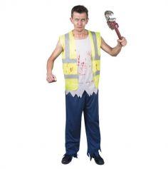 Déguisement Homme - Ouvrier Zombie - Halloween - Taille Unique