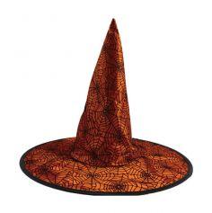 Chapeau de Sorcière Orange - Toile d'Araignée