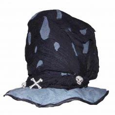 Chapeau haut de forme gris et noir