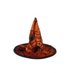 Mini chapeau de sorcière orange sur pince