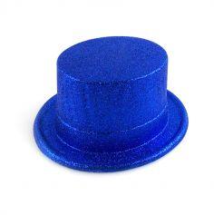 Chapeau Haut de Forme à Paillettes - Bleu
