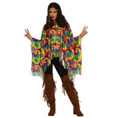 poncho hippie avec bandeau pour femme | jourdefete.com