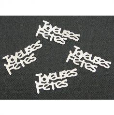 """Confettis de table """"Joyeuses Fêtes"""" - Argent"""