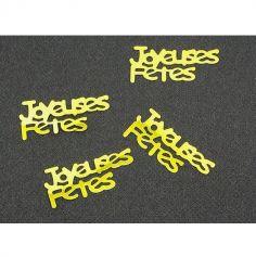 """Confettis de table """"Joyeuses Fêtes"""" - Or"""