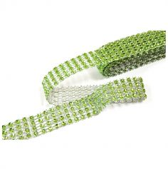 Ruban strass vert anis