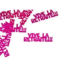 "Confettis de table ""vive la retraite"" - Fuchsia"