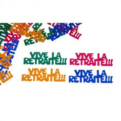 "Confettis de table ""vive la retraite"" - Multicolores"