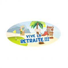 "4 Stickers repositionnables ""Vive la retraite"""