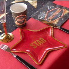 "10 Assiettes Etoiles "" Star "" - Ultra Plates - Cinéma Hollywood"