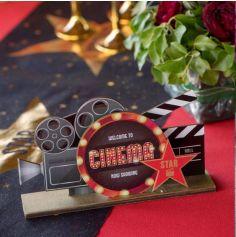 Décoration de table à poser en bois - Cinéma Hollywood
