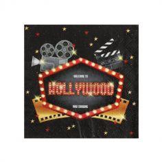 serviettes-papier-hollywood-cinema-decoration-table | jourdefete.com