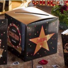 Tirelire en carton de 20 cm - Cinéma Hollywood
