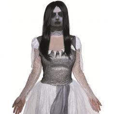 Cagoule Femme Fantôme avec Perruque