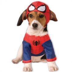 Déguisement Spiderman Pour Chien - Taille au Choix