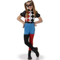 Déguisement Superhéro Girls Fille Harley Quinn - Taille au Choix