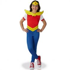 Déguisement Superhéro Girls Fille Wonder Woman - Taille au Choix