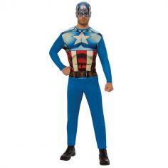 Déguisement de Captain America Adulte - Taille au Choix