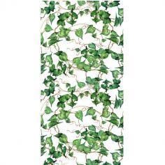 chemin-table-vegetal-feuilles-romantique|jourdefete.com