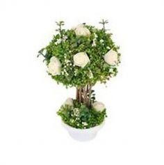 pot-fleur-romantique-rose-blanche-mariage|jourdefete.com