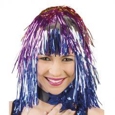 Perruque Disco Femme Lamée Multicolore