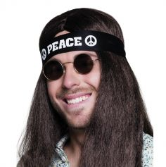 "Bandeau de Hippie ""Peace"" Adulte"
