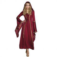 Costume Dame Médiévale Rouge Femme - Taille au Choix