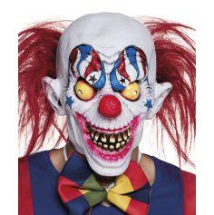 Masque Intégral en Latex Clown Fou Américain