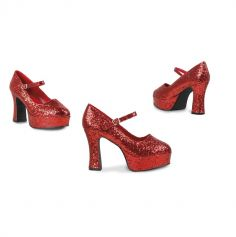 Chaussures Disco à Paillettes Rouges - Pointure 39