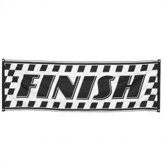 """Bannière """"Finish"""" Noir et Blanc"""