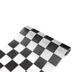 Chemin de table Damier Noir et Blanc